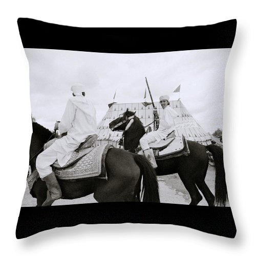 Horse Throw Pillow featuring the photograph The Noble Berber by Shaun Higson
