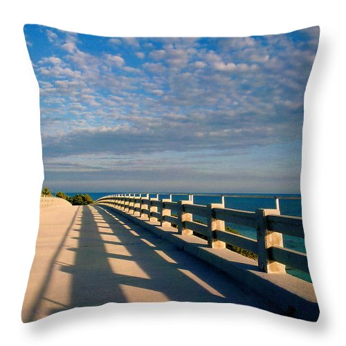 Bridges Throw Pillow featuring the photograph The Old Bridge by Susanne Van Hulst