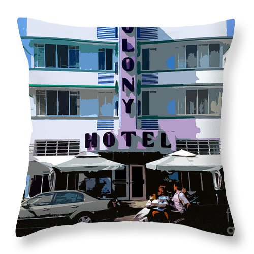 Hotel Throw Pillow featuring the photograph The Old Colony Hotel by David Lee Thompson