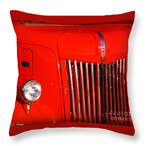 Ford Throw Pillow featuring the photograph The Old Ford Truck by Mary Chris Hines
