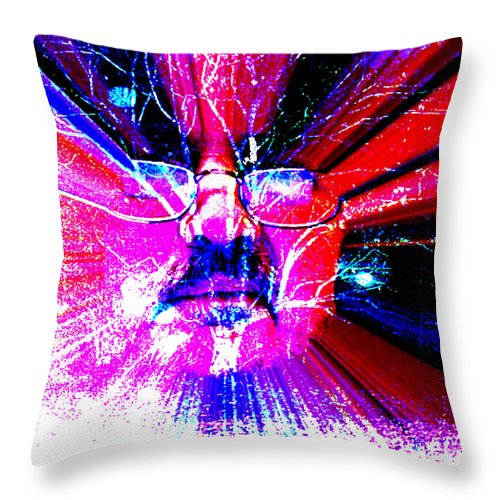 The Old Gardener Throw Pillow featuring the digital art The Old Gardener by Seth Weaver