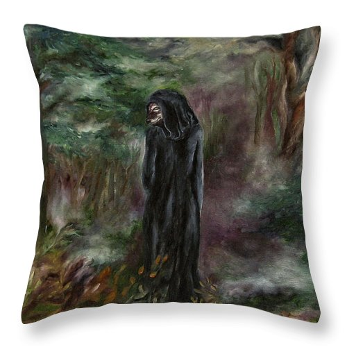Ealiron Throw Pillow featuring the painting The Old One by FT McKinstry