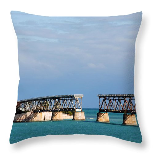 Flagler Throw Pillow featuring the photograph The Old Railroad To The Keys by Susanne Van Hulst