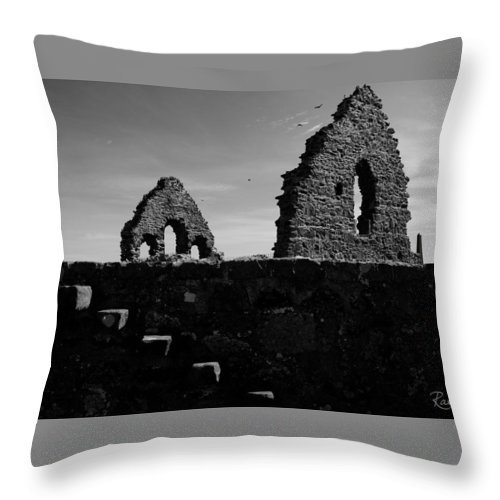 Steps Throw Pillow featuring the photograph The Old Steps by Rasma Bertz