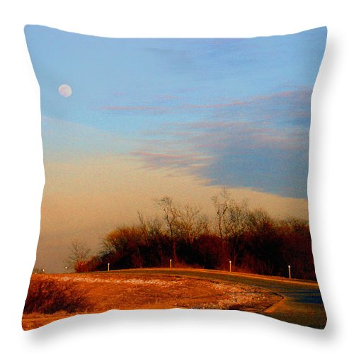 Landscape Throw Pillow featuring the photograph The On Ramp by Steve Karol
