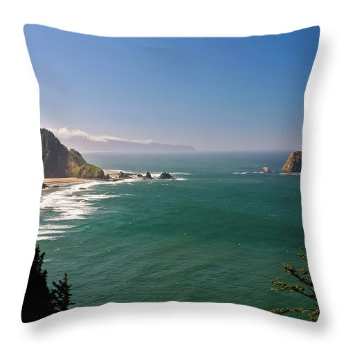 Oregon Throw Pillow featuring the photograph The Oregon Coast by Albert Seger
