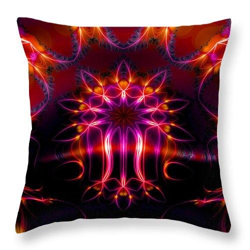 Neon Throw Pillow featuring the digital art The Other Half by Robert Orinski