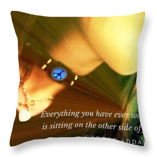 Throw Pillow featuring the photograph The Otherside by Tatiana Gorbett