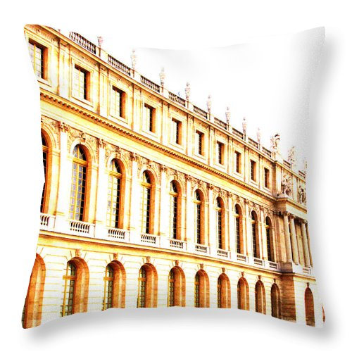 Versailles Throw Pillow featuring the photograph The Palace by Amanda Barcon