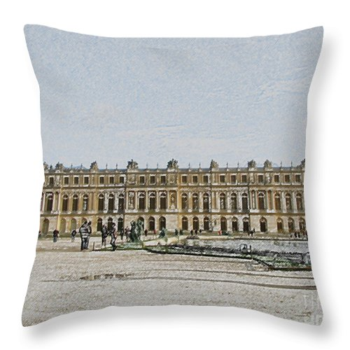Palace Throw Pillow featuring the photograph The Palace Of Versailles by Amanda Barcon