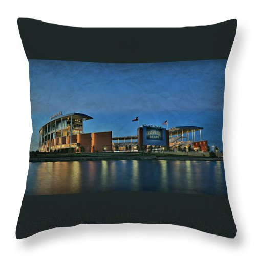 #baylornation Throw Pillow featuring the photograph The Palace On The Brazos by Stephen Stookey