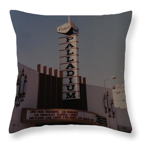 The Palladium Throw Pillow featuring the photograph The Palladium by Rob Hans