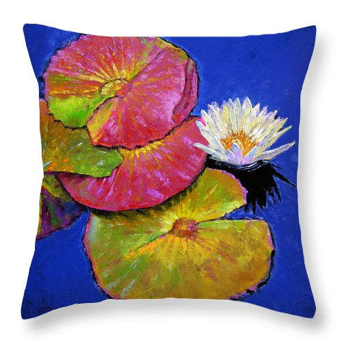 Water Lily Throw Pillow featuring the painting The Palletes Of Fall by John Lautermilch