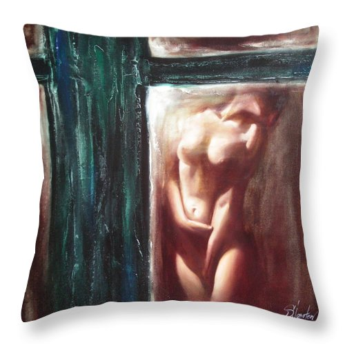 Ignatenko Throw Pillow featuring the painting The parallel world by Sergey Ignatenko