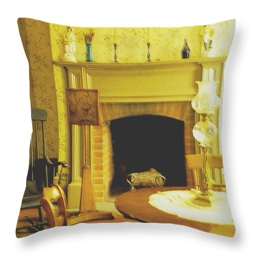 Pioneer Throw Pillow featuring the photograph The Parlour by Ian MacDonald