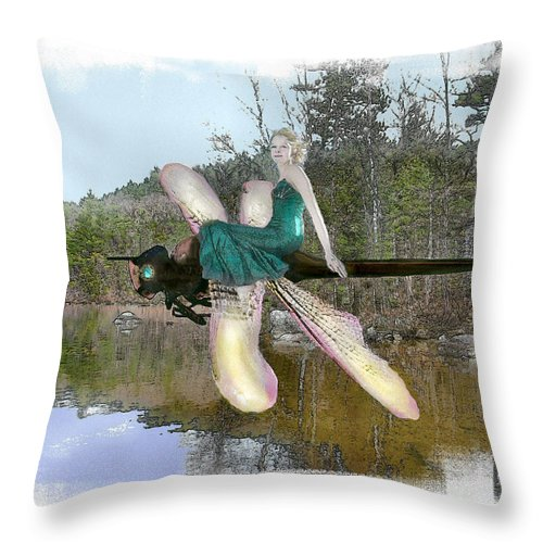 Young Woman Throw Pillow featuring the photograph The Parting by Rose Guay