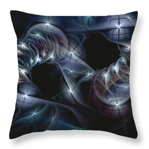 Abstract Throw Pillow featuring the digital art The Passing by Casey Kotas