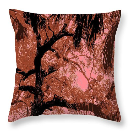 Square Throw Pillow featuring the digital art The Passion Of The Oak by Eikoni Images