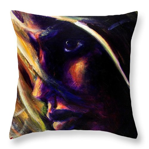 Acrylic Throw Pillow featuring the painting The Past Is Gone by Jason Reinhardt