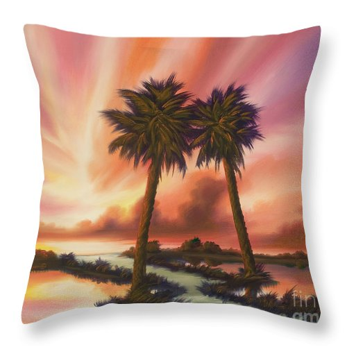 Skyscape Throw Pillow featuring the painting The Path Ahead by James Christopher Hill