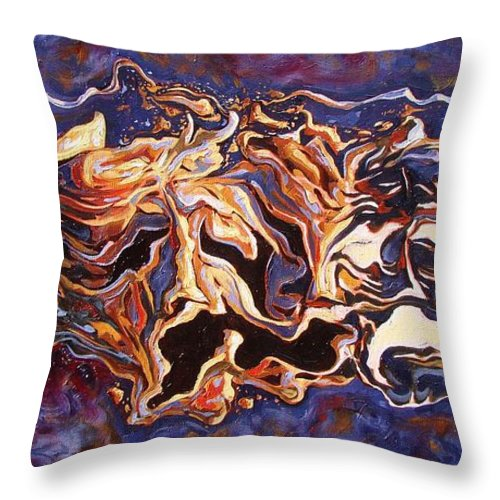 Masks Throw Pillow featuring the painting The Path Of Irony by Darwin Leon