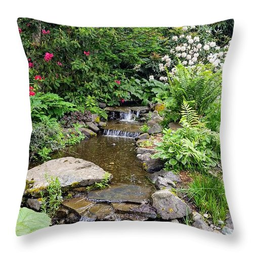 Botanical Flower's Nature Throw Pillow featuring the photograph The peaceful place 11 by Valerie Josi