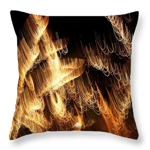 Abstract Throw Pillow featuring the photograph The Pearl Shop by David Dunham