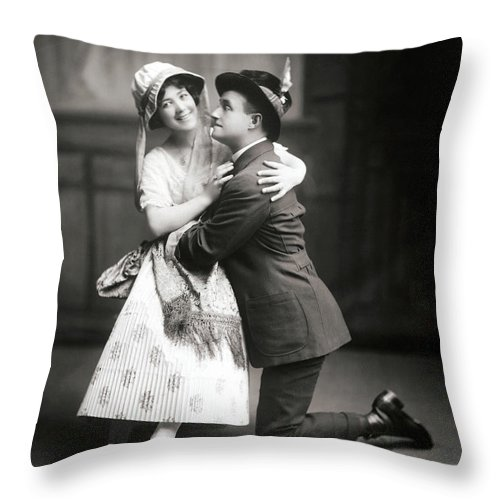 1915 Throw Pillow featuring the photograph The Peasant Girl, 1915 by Granger