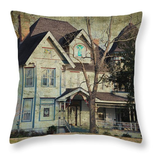 Landscapes Throw Pillow featuring the photograph The Pecan Inn by Jan Amiss Photography