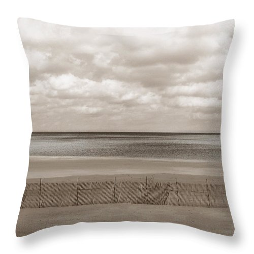 Ocean Throw Pillow featuring the photograph The Perfect Sky Is Torn by Dana DiPasquale