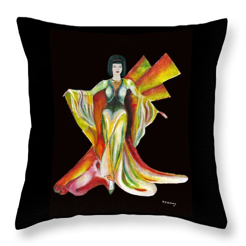 Dresses Throw Pillow featuring the painting The Phoenix 2 by Tom Conway