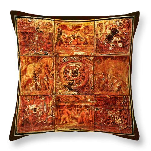 Bangladesh Throw Pillow featuring the digital art The Pieces Of Heritage by Rabi Khan