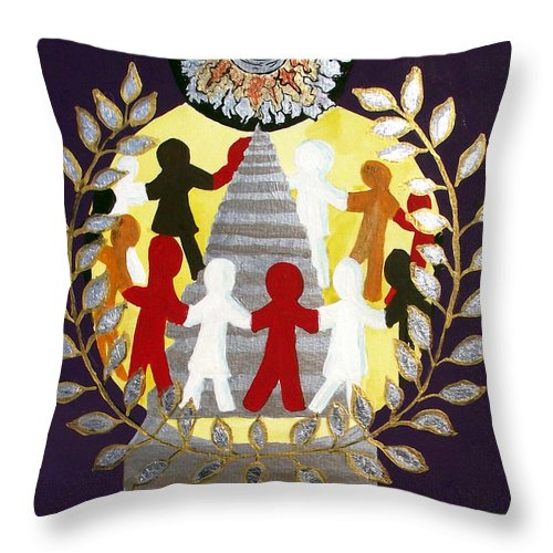 Masonic Throw Pillow featuring the painting The Poet Lauriat by Arlene Wright-Correll