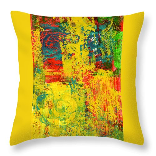 Abstract Throw Pillow featuring the painting The Power Within by Wayne Potrafka