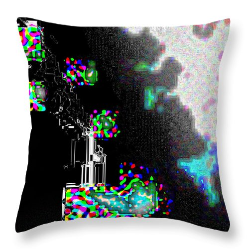 Square Throw Pillow featuring the digital art The Preeminence Of The Inevitable by Eikoni Images