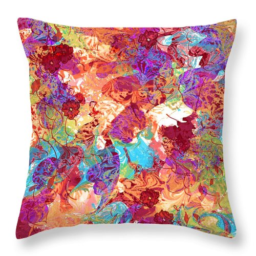 Abstract Throw Pillow featuring the digital art The Princess Dream by Rachel Christine Nowicki