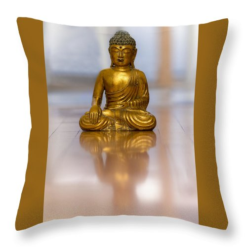 Buddha Throw Pillow featuring the photograph The Problem Is You Think You Have Time. by Valerie Rosen