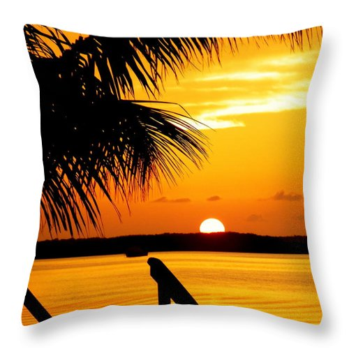 Sunsets Throw Pillow featuring the photograph The Promise by Karen Wiles