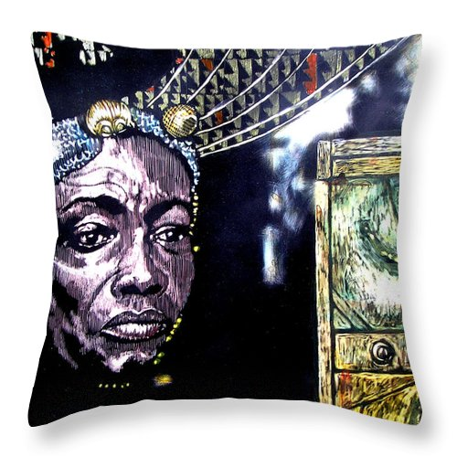 Throw Pillow featuring the mixed media The Promise Keeper by Chester Elmore