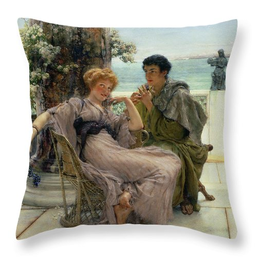 The Proposal Throw Pillow For Sale By Sir Lawrence Alma Tadema