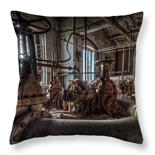 Art Throw Pillow featuring the photograph The Pumphouse by Everet Regal