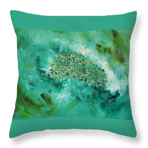 Question Throw Pillow featuring the painting The Question by Dawn Hough Sebaugh