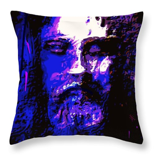 Art Throw Pillow featuring the painting The Real Face Of Jesus by Larry Lamb