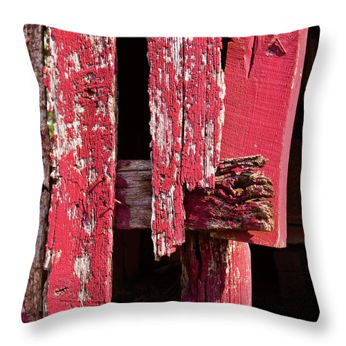 Barn Throw Pillow featuring the digital art The Red Barn 4 by Richard Larson