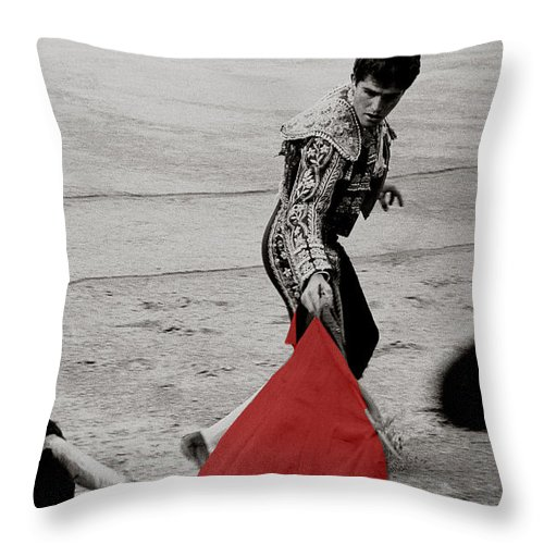 Cape Throw Pillow featuring the photograph The Red Cape by Michael Mogensen