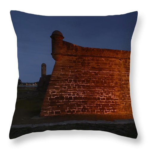 Castillo Throw Pillow featuring the photograph The Red Castillo by David Lee Thompson