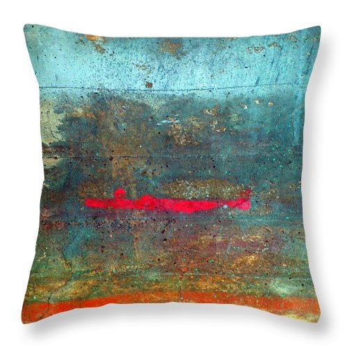 Line Throw Pillow featuring the photograph The Red Line by Tara Turner