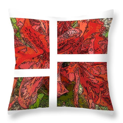 Abstract Throw Pillow featuring the digital art The Rhody 01 by Tim Allen