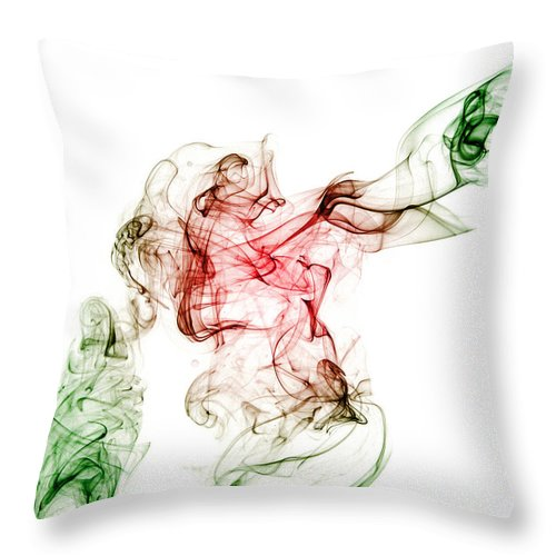 Red Throw Pillow featuring the photograph The Riders Heart by Stephen Gleave