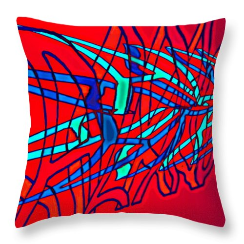C2 Throw Pillow featuring the digital art The risc of alcohol by Helmut Rottler
